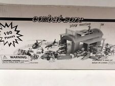 Combat Zone Play Series 100 Piece Set Military Helicopter Jet Figures