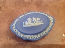 Wedgwood Jasperware Blue Fluted Trinket Box - Excellent condition