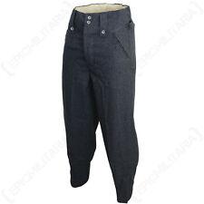 WW2 Luftwaffe M43 Wool Trousers - Repro German Pilot Blue Pants Uniform All Size