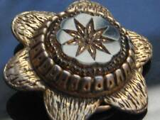 Glass Gold Ring Vintage Costume Jewellery