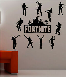 Fort Decals Nite PS4 Xbox Wall Stickers Silhouette Characters Vinyl Wall Art F2