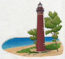 Little Sable Point Lighthouse SET OF 2 BATH HAND TOWELS EMBROIDERED BY LAURA