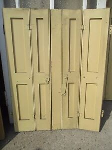 "Reclaimed five panel period pine window shutter shutters 35"" wide x 46""x 1 3/8"""