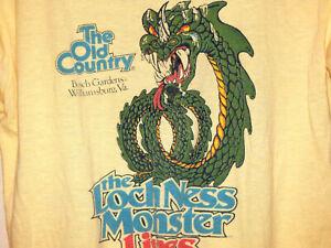 vtg Busch Gardens Lock Ness Monster ringer T-shirt S