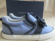 Tommy Hilfiger Slider Bow Sneakers Toddler Girls Size 10 Blue New Without Box