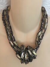 Vera Wang Necklace Tope/Lilac Crystal Choker Multi Strand Knot New