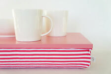 Serving tray with pillow, Stable table, stand - caramel pink tray with watermelo