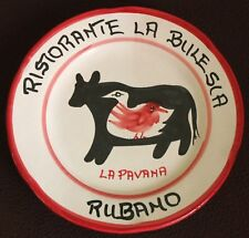 BUON RICORDO PLATE SOLIMENE VIETRI ITALIAN CERAMIC RUBANO LA PAVANA 1987
