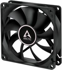 More details for arctic cooling f9 92mm 90mm 3 pin black case fan, 1800 rpm, 43 cfm airflow