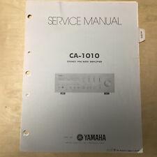 Original Yamaha Service Manual for the CA-1010 Amplifier Repair