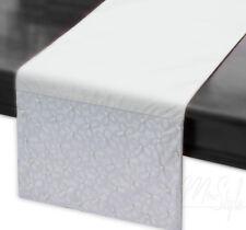 "MODERN TABLE RUNNER  PEARLS PATTERN LONG UNIQUE 13.8""X71"" (35CM X 180CM)"