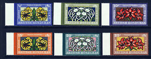 BRITISH HONDURAS Queen Elizabeth II 1971 Easter Flowers Set SG 307 to 312 MNH