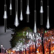 144 LED Meteor Shower Rain Light Tube String Xmas Decorate Tree Party Cool White