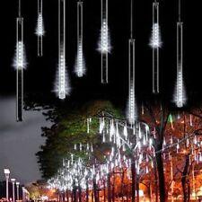 144 LED Meteor Shower Rain Light Tube String Xmas Decorate Tree Party Cool White