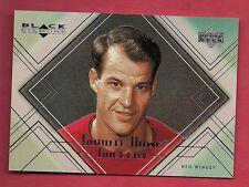 1999-00 RED WINGS GORDIE HOWE GALLERY # GH8 BALCK DIAMOND INSERT CARD