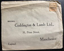 1931 Tanger Morocco British Agencies cover To Manchester England