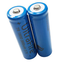 2PCS 18650 3800mAh 3.7V Li-ion Rechargeable Battery for Flashlight Torch LED