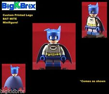 BAT MITE Blue Outfit DC Custom Printed LEGO Minifigure with ABS Custom Helmet!