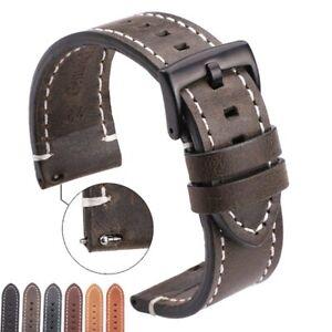 OMEGA Tissot Timex Galaxy Watch Strap Band Genuine Leather 18mm 20mm 22mm 24mm