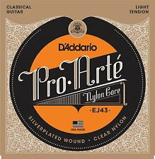 D'Addario EJ43 Pro Arte Classical Guitar Strings Light Tension. Superior Quality