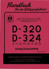 BETRIEBSANLEITUNG für Mc Cormick D-320 D-324 Standard