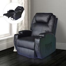 Massagesessel Fernsehsessel Relaxsessel TV Sessel mit Wärmefunktion Schwarz