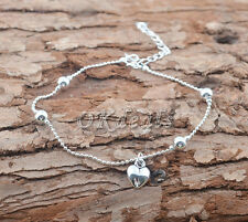 New 925 Sterling Silver Plated Anklet Foot Chain Soles Anklet Barefoot Bracelet~