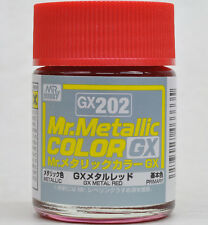 GSI CREOS GUNZE MR HOBBY Color GX202 Metallic Red LACQUER PAINT 18ml NEW