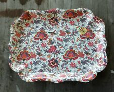 Vivenzi Italy Melamine Large Serving Tray – French Toile Pattern – New