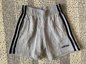 Boys Adidas Grey & Black Sweat / Jogger Shorts. Age 7-8 Years