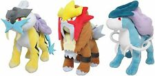 "Japanese Pokemon Set of 3 Raikou Entei Suicune Plush 9"" Toys SHIPS FROM USA!"