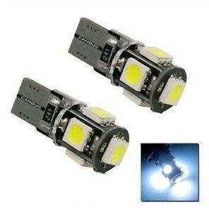 Ampoule T10 LED 24V Canbus 5 SMD W5W Veilleuses 6000K Blanc 2pcs