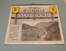 1946 Bonnie Scotland Pictorial Leaflet Calendar in Original Box Photos Poetry