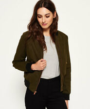 New Womens Superdry Alia Bomber Jacket Khaki