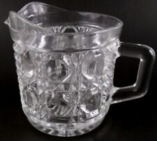 American Brilliant Cut Glass Coffee Creamer Vintage Heavy