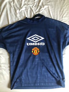 MANCHESTER UNITED VINTAGE TRAINING SHIRT 90s SIZE Y/S