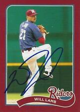 Will Lamb 2015 Frisco Roughriders Signed Card