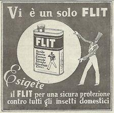 W4720 Vi è un solo FLIT - Pubblicità del 1934 - Vintage advertising
