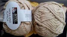 100 g smc select HIGHLAND ALPACA Merino WOLLE Fb. 2926 Ecru Beige Sand CHUNKY