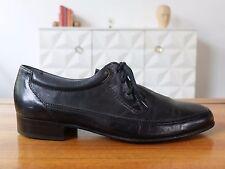 LORD Excellent Herren Schuhe Gr. 42 Schwarz Leder Schnürschuh Uk 8 True Vintage