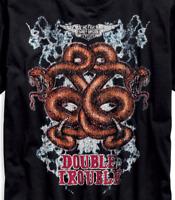Harley Davidson Double Trouble Slim Fit Black Shirt NWT Men's medium