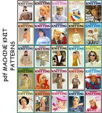 36 modern knitting machine pattern books on DVD