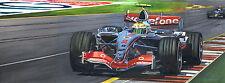 Lewis Hamilton driving McClaren at the Australian Grand Prix 2007 - Ltd Ed Print