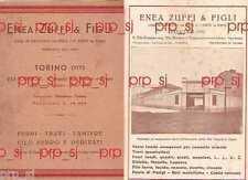 TORINO COAZZE BRUINO TRANA ZUFFI 1933 FERRO TRAVE LAMIERA CATALOGO CARTA MAPPA