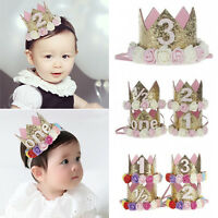 Baby Toddler Kids Crown Tiara Headband Hair Band Birthday Party Lovely Headwear