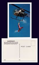 AVIATION DAVID MERRIFIELD BELL 47-D-1 HELICOPTER TRAPEZE ACT SUSPENDED WOMAN