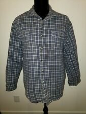 Wrangler MEDIUM Quilted Insulated Flannel Shirt Blue (Lot597)
