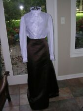 #119 Womans Plus Sz Long Elegant Skirt~Victorian Dickens Steampunk Costume 2X