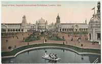 Antique Postcard IMPERIAL INTERNATIONAL EXHIBITION 1909 Court Of Arts colourised