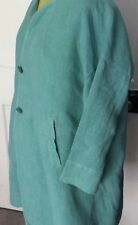 OSKA Pale Green Long Linen Jacket Size 5